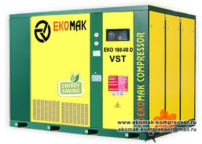 Компрессор Ekomak EKO 160 D VST - 8 bar
