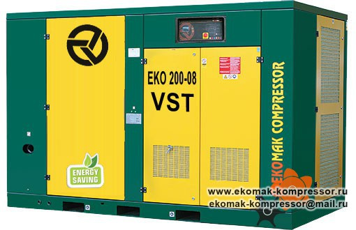 Компрессор Ekomak EKO 200 VST - 8 bar