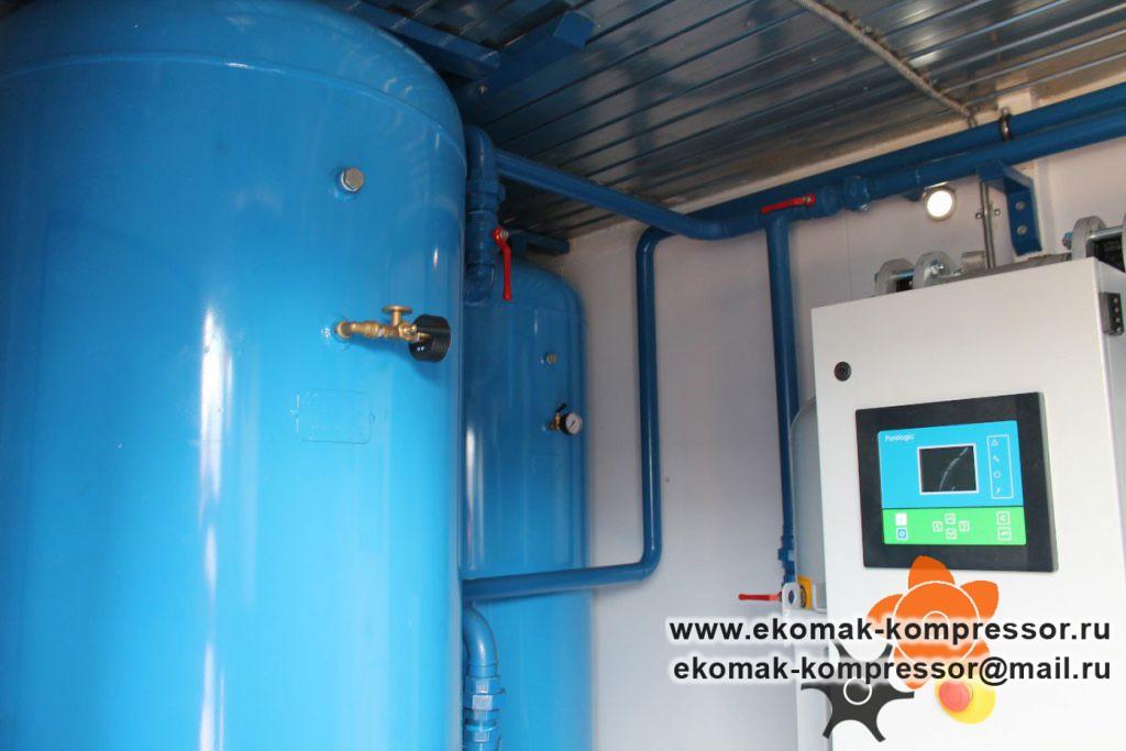 Трубная обвязка - модульная компрессорная станция Ekomak