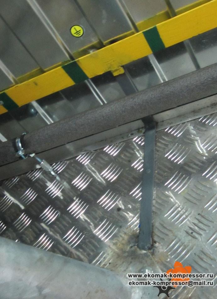 Заземление - модульная компрессорная станция Ekomak