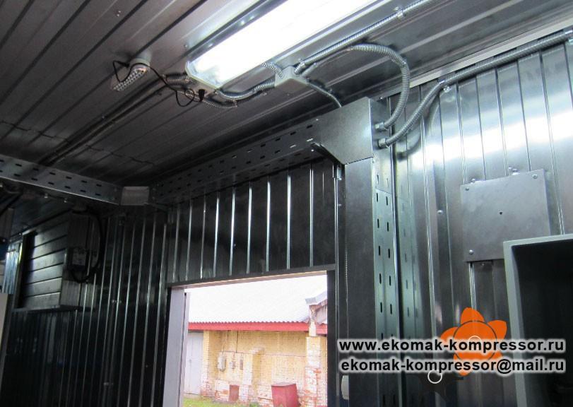 Внутренняя обшивка - модульная компрессорная станция Ekomak